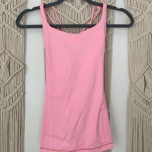 Lululemon pink building bra sports tank